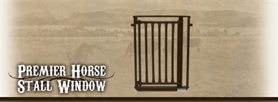 Premier Horse Stall Window - Brown