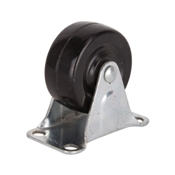 Santas Forest JC-H01 Rigid Caster, 2 in Dia x 1-1/4 in W Wheel, 125 lb Weight Capacity, Rubber Wheel