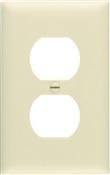 Ivory Nylon 1 Gang Oversize Receptacle Plate