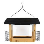 6 QT Cedar Hopper Bird Feeder with Suet