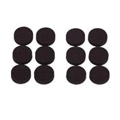 Prosource FE-50720-PS Furniture Pad, Rubber, Black
