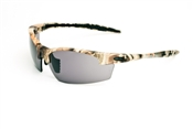 Camouflage Half Frame Sunglasses With Smoke Lens