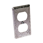 Steel Duplex Receptacle Utility Box Cover