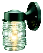 Jelly Jar Outdoor Wall Fixture, Black