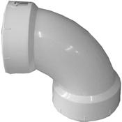 """1-1/2"""" PVC-DWV 90 Sanitary Elbow (HubxHub)"""