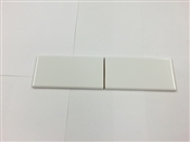 3 x 6 Bullnose Tile, White Ice