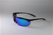 Safety Sunglasses w/Tortoise Shell-REVO Ice Blue Lens