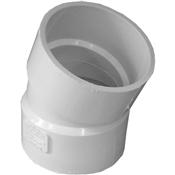 "3"" PVC S&D 22-1/2 Elbow (HubxHub)"