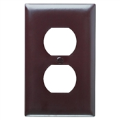 Brown Nylon 1 Gang Receptacle Plate