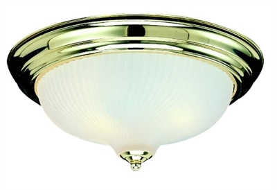 2 Light Polished Brass Dome Indoor Ceiling Fixture