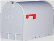 Silver Galvanized Rural Mailbox - Jumbo