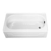 """KONA 54"""" Porcelain Enameled Steel Right Hand Tub - White"""