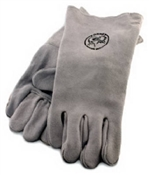 Welding Gloves Lined Leather Gray Large
