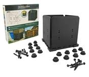 10 X 10 Post Base Kit, Ironwood