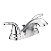 Adler 2 Lever Metal Handle Bathroom Faucet, Chrome