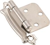 Amerock BPR7329G9 Cabinet Hinge, Steel, Sterling Nickel