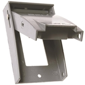 Weatherproof Single-Gang GFCI Metal Receptacle Cover, Gray