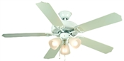 "Palladium 52"" Tri-Mount Ceiling Fan Gloss - White With Light Kit"
