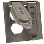 Two Gang Receptacal Duplex Cover - Gray