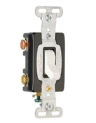 Premium 3-Way Toggle Switch, 15A, White