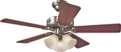 Ceiling Fan with Light, 120 V, 29 W, 3-Speed, 5-Blade, 42 In