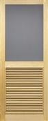 """Louver Solid Wood Screen Door, 2'8"""" x 6'8"""""""