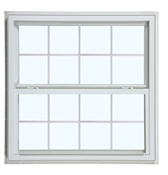 4050 300 Insulated Low-E Glass 8/8 White Single Hung Window