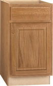 "18""W x 34-1/2""H x 24""D Assembled Base Oak Finish"